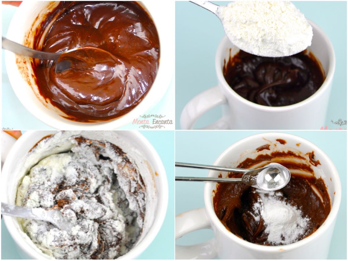 Bolo de Nutella de Caneca (4 ingredientes) - Monta Encanta