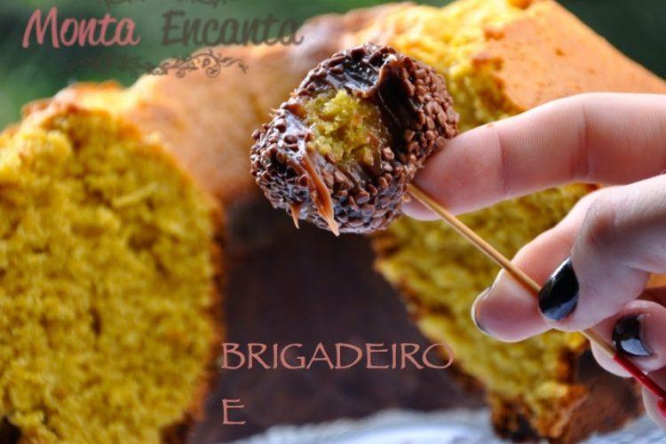 Brigacake brigadeiro com bolo de cenoura