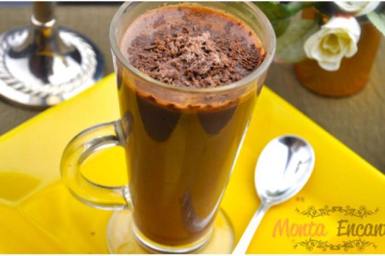 Chocolate Quente de Nutella microondas