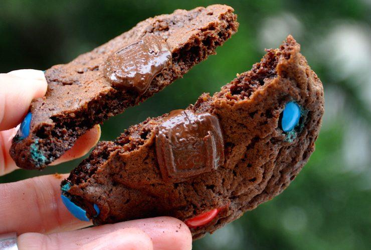Cookies  de M&M'S  Chocolate em dobro