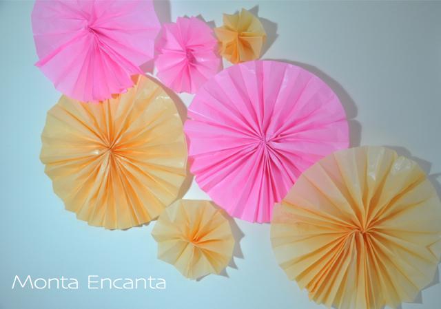 Flor de leque de papel de Seda – DIY