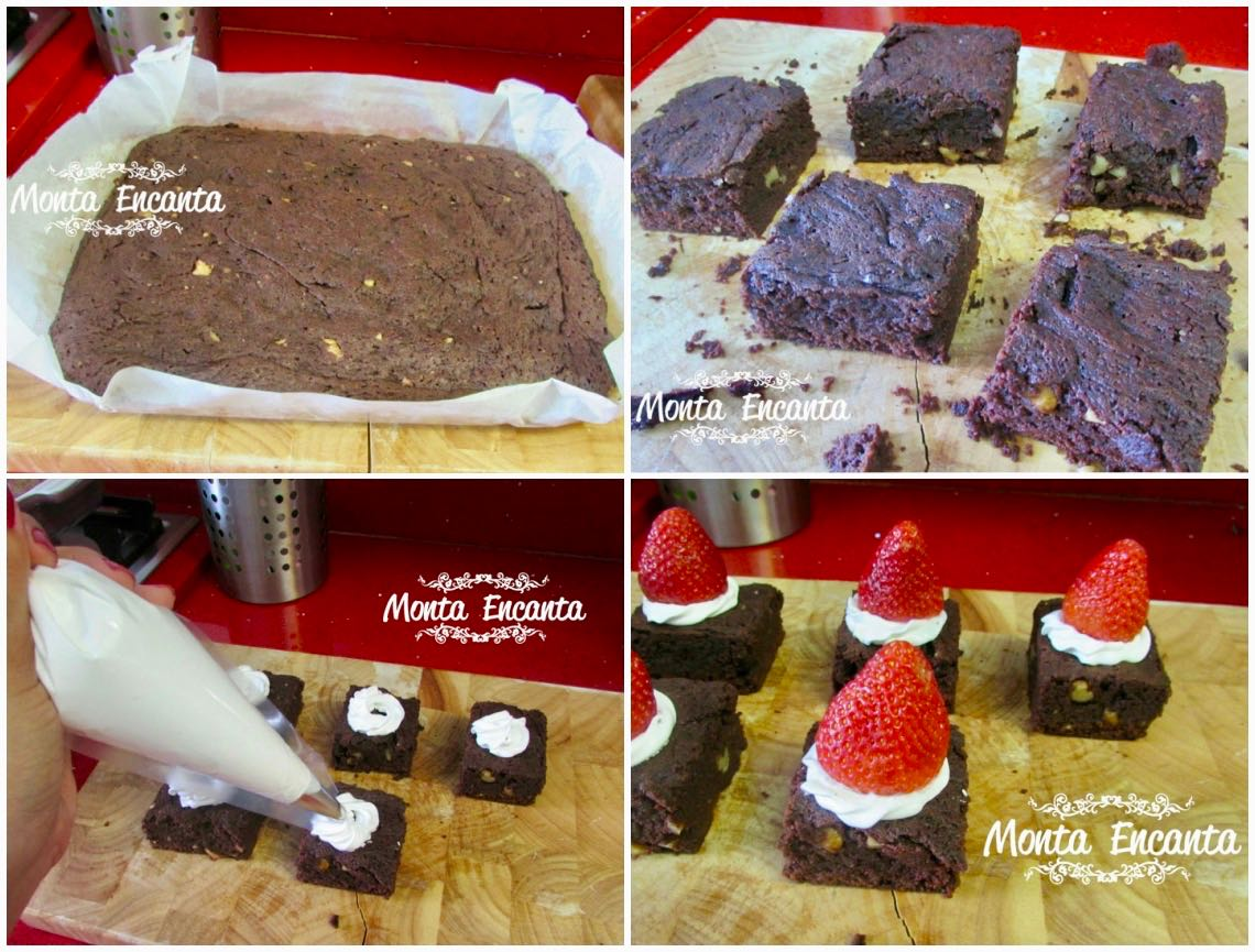 brownie do papai noel