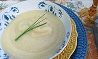 Sopa de Batata e Alho Poró