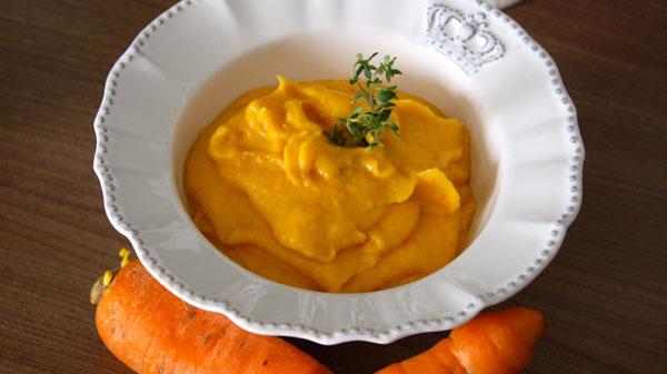 Purê de  cenoura