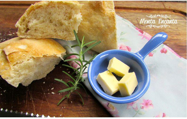 Pão de batata com alecrim