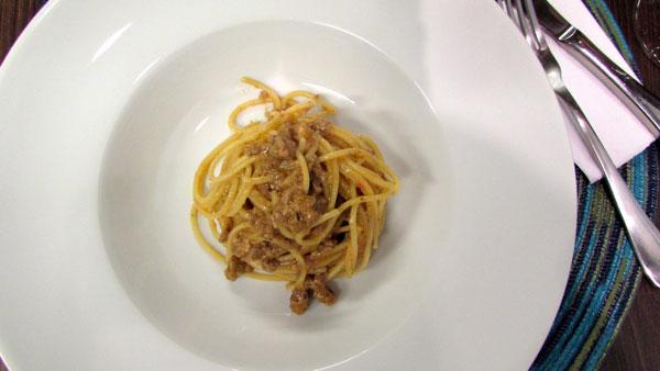 Spaghetti risotado alla Bollognese