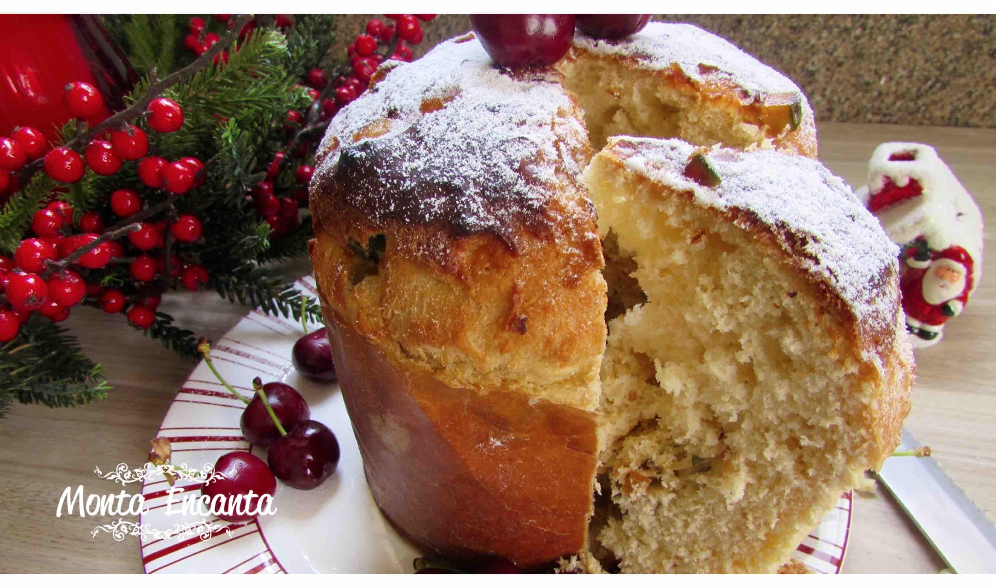 Panetone de Natal tradicional com fruta seca