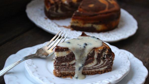 Cheesecake zebrado