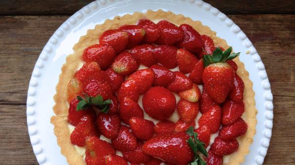 Torta de Morangos, linda  e ainda mais gostosa!