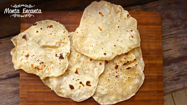 Pão Chapati pão indiano sem fermentação