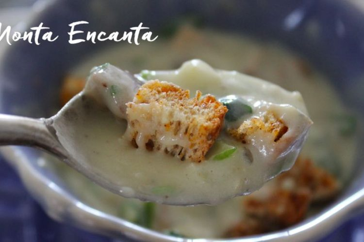Sopa Creme de Batata com Crouton Crocante!