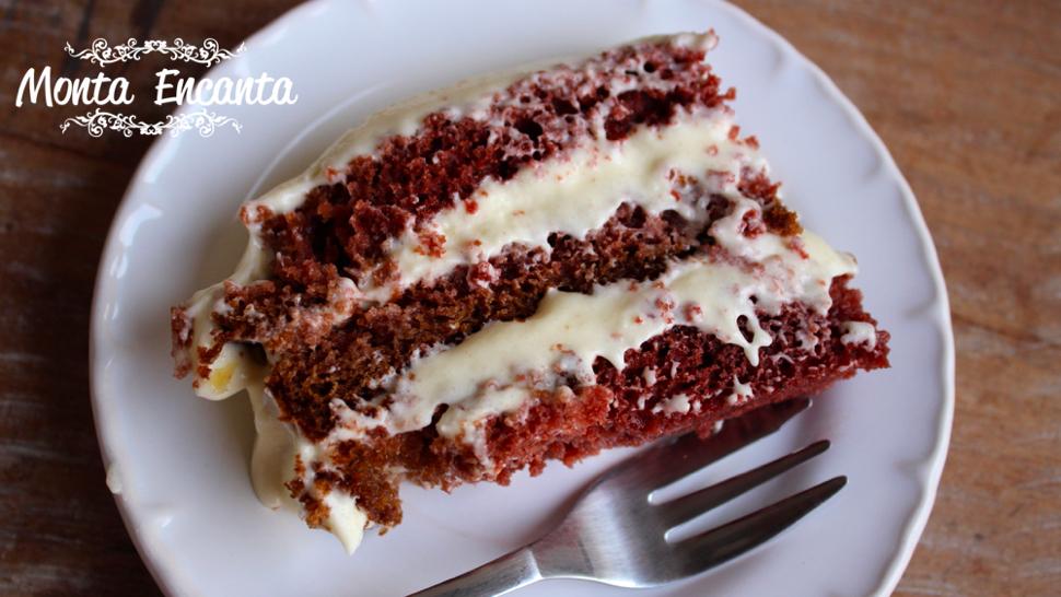 Bolo Red Velvet, o  mais famoso bolo americano!