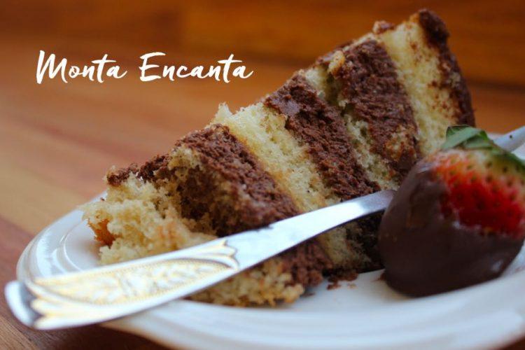 Bolo Mousse de Chocolate Morango e Ganache