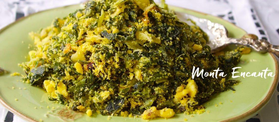 Farofa de Couve com ovos brasileiríssima!