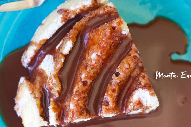 Bolo Fofinho com Calda de Nutella