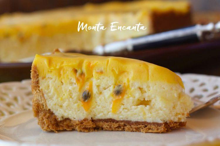 Torta Mousse Trufada de Maracujá
