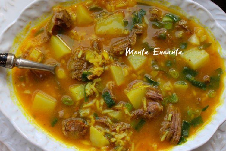 Sopa de Músculo com Batata e  Arroz Basmati