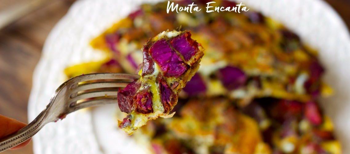 Tortilha Espanhola com Batata Roxa