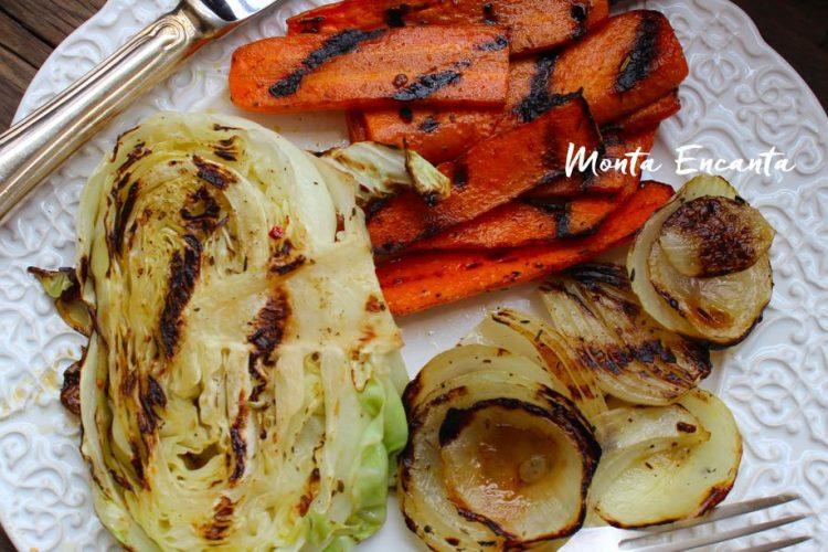 Plancha de legumes salteados, vegetariana!
