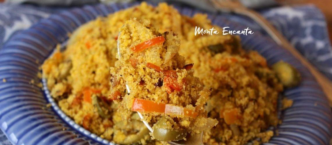 Farofa de Pimentão é fa ro fa fá repleta de sabor