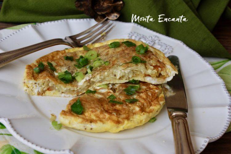 Tortilha de Batata Rosti,  omelete de batata ralada!