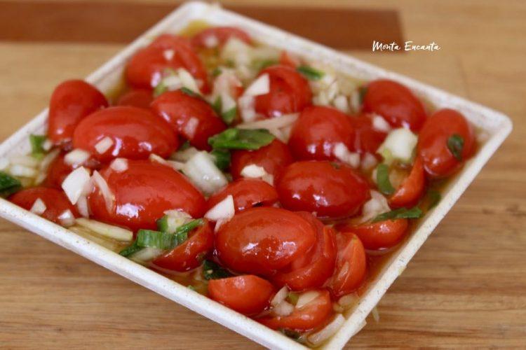 Vinagrete de Tomatinho Sweet, fica ainda mais gostoso!