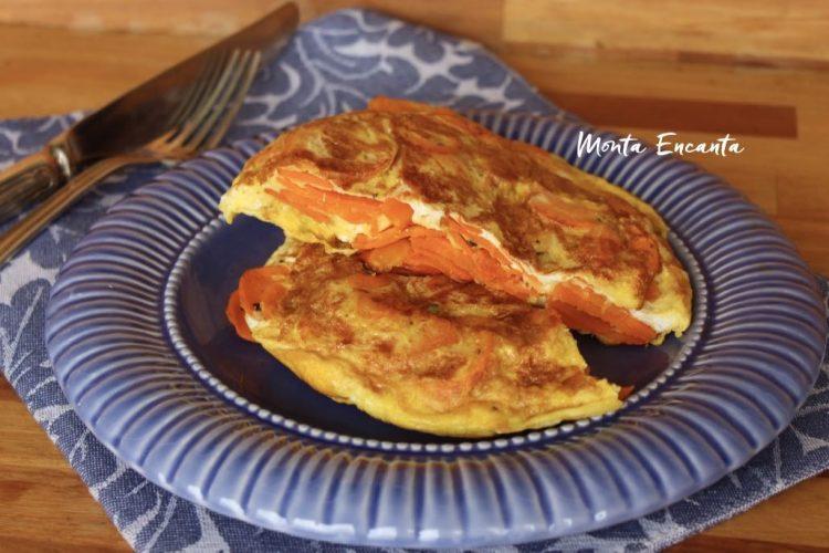 Tortilha de Cenoura, alta, macia, suculenta e saborosa!