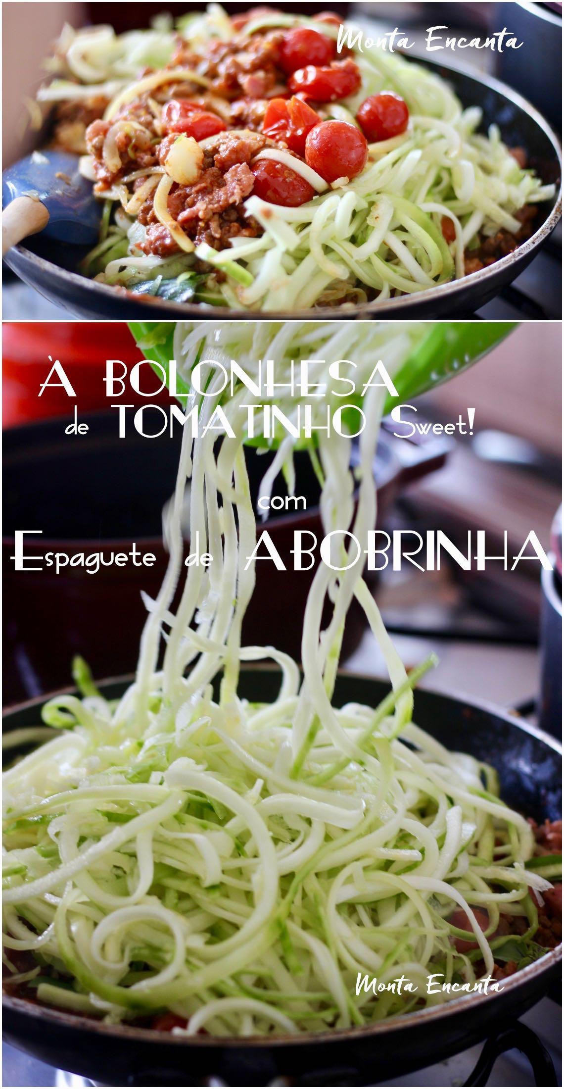 espaguete de abobrinha à bolonhesa