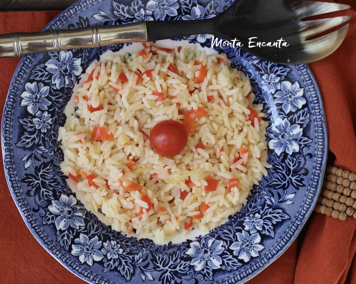 arroz com pimentão vermelho