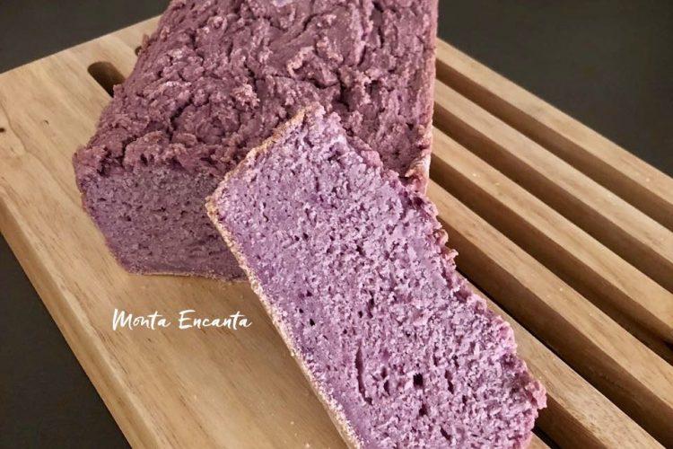 Pão de Batata Roxa s/ glúten! Saudável, lindo e delicioso.
