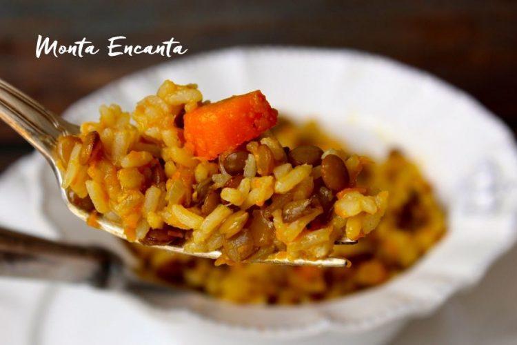Arroz com Lentilha e cenourinha bem nutritivo!