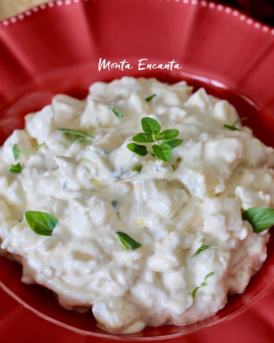 salada de ovo com batata