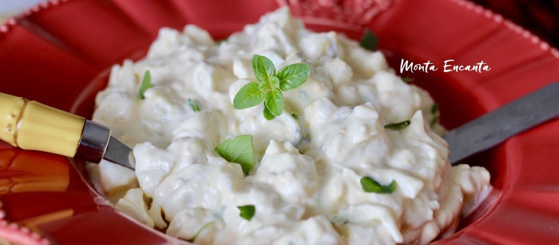 Salada de ovo com batata e maionese de alho!