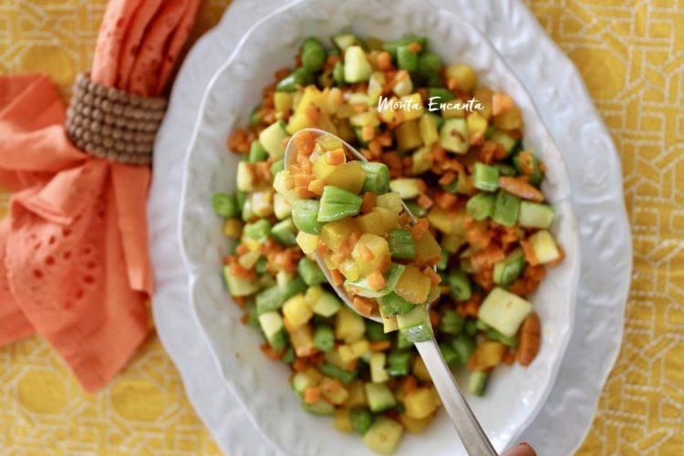 Seleta de Legumes,  al dente e tostada na manteiguinha!