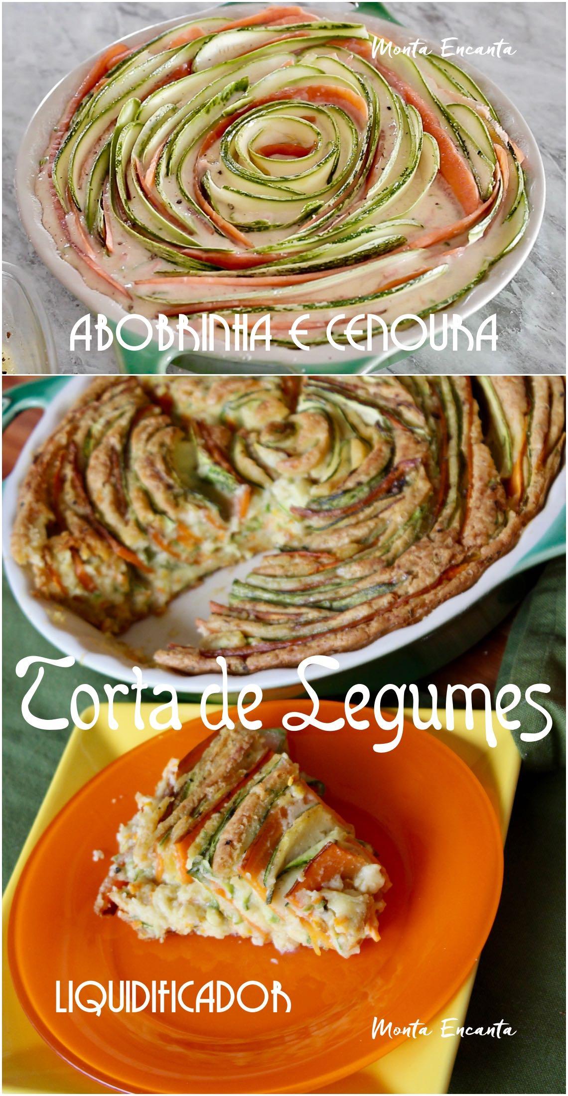 torta de legumes de abobrinha e cenoura
