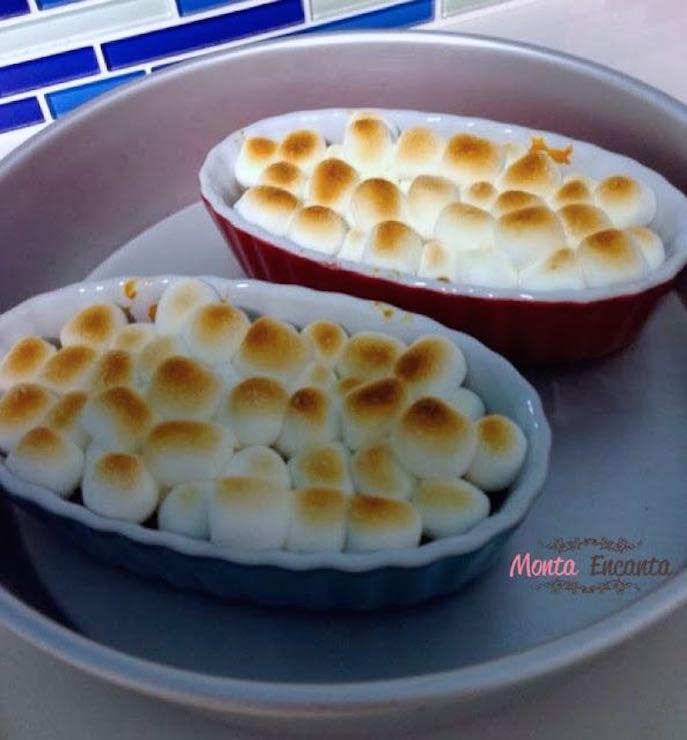 Pure de Batatas Doce com Marshmallow