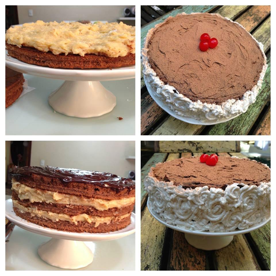 Bolo Prestígio Rose Cake