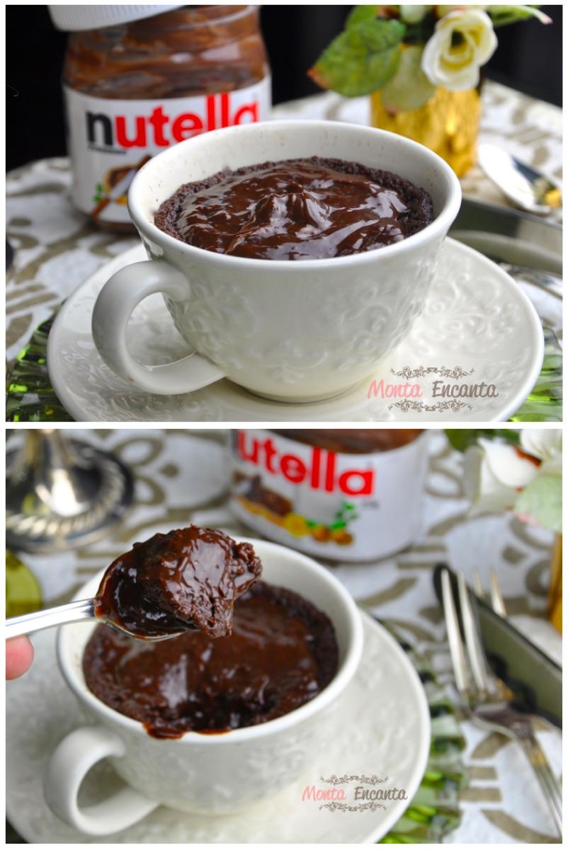 Bolo de Nutella de Caneca (4 ingredientes)