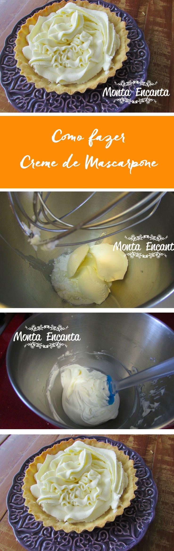 Como fazer Creme de Mascarpone