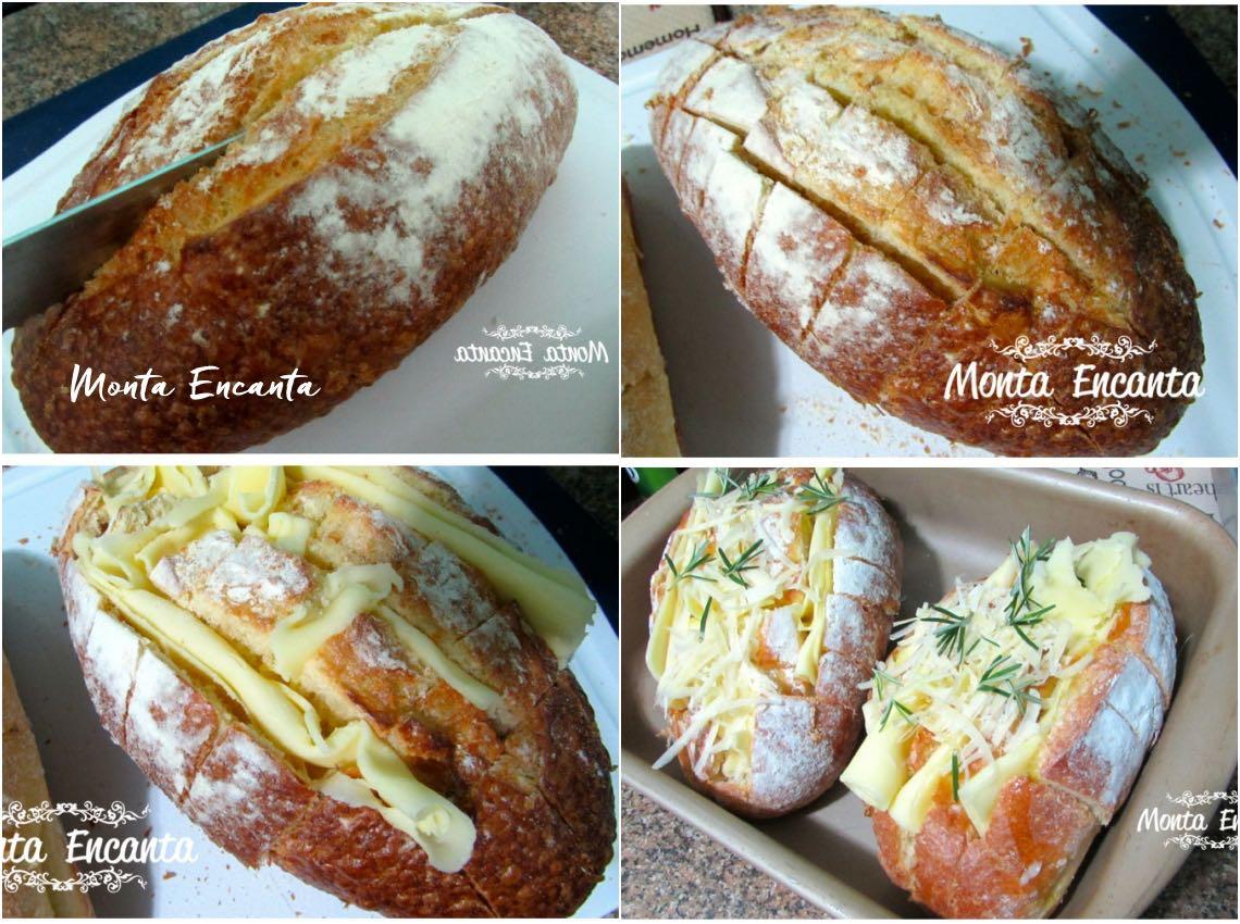 Pão com Queijo Derretido
