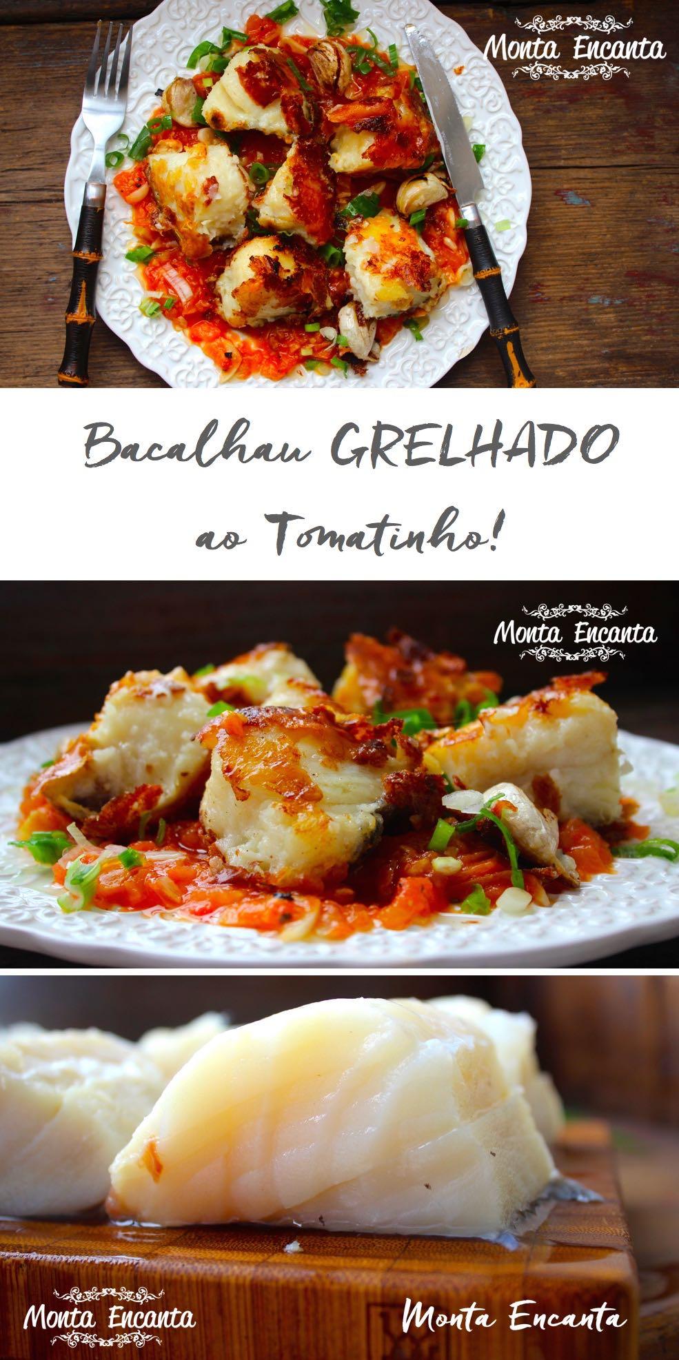 Bacalhau grelhado ao tomatinho