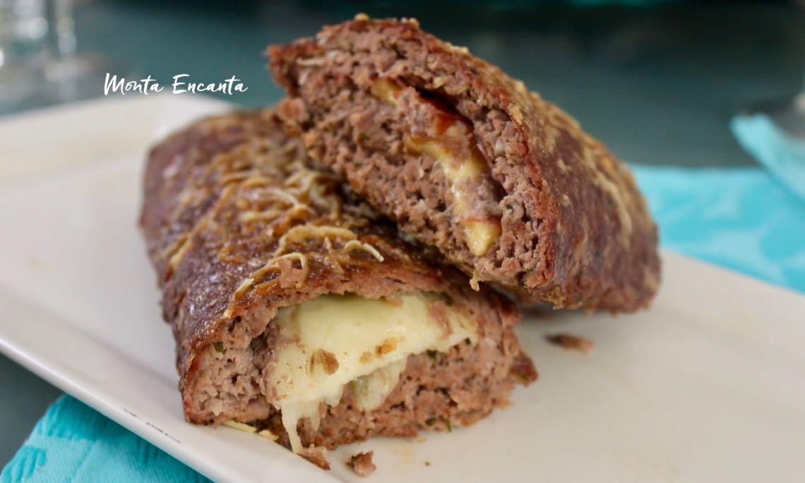 rocambole de carne moida com queijo