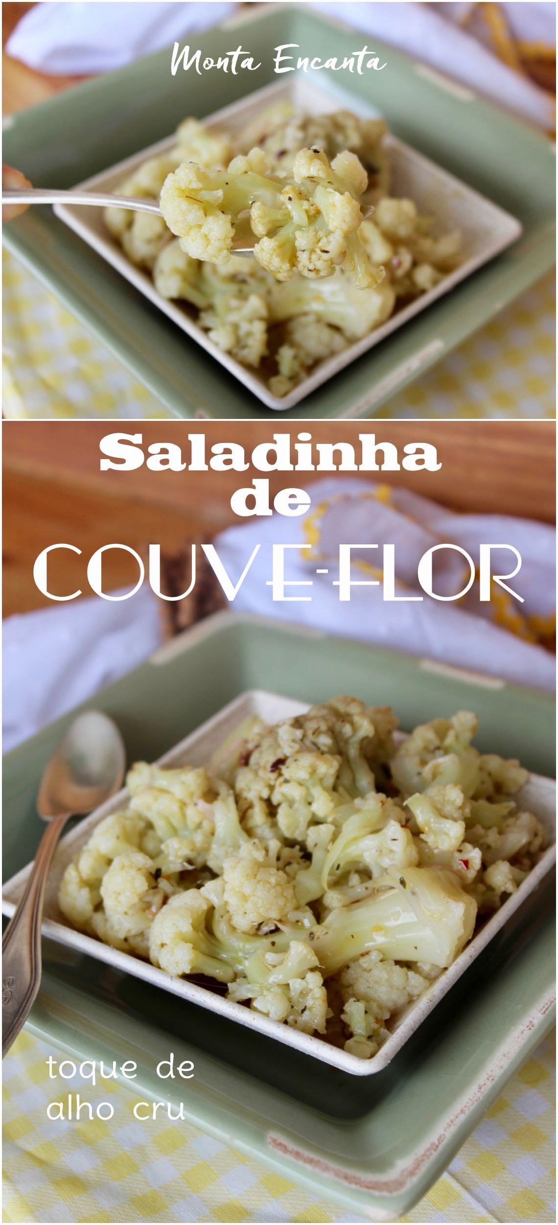 como fazer salada de couve-flor