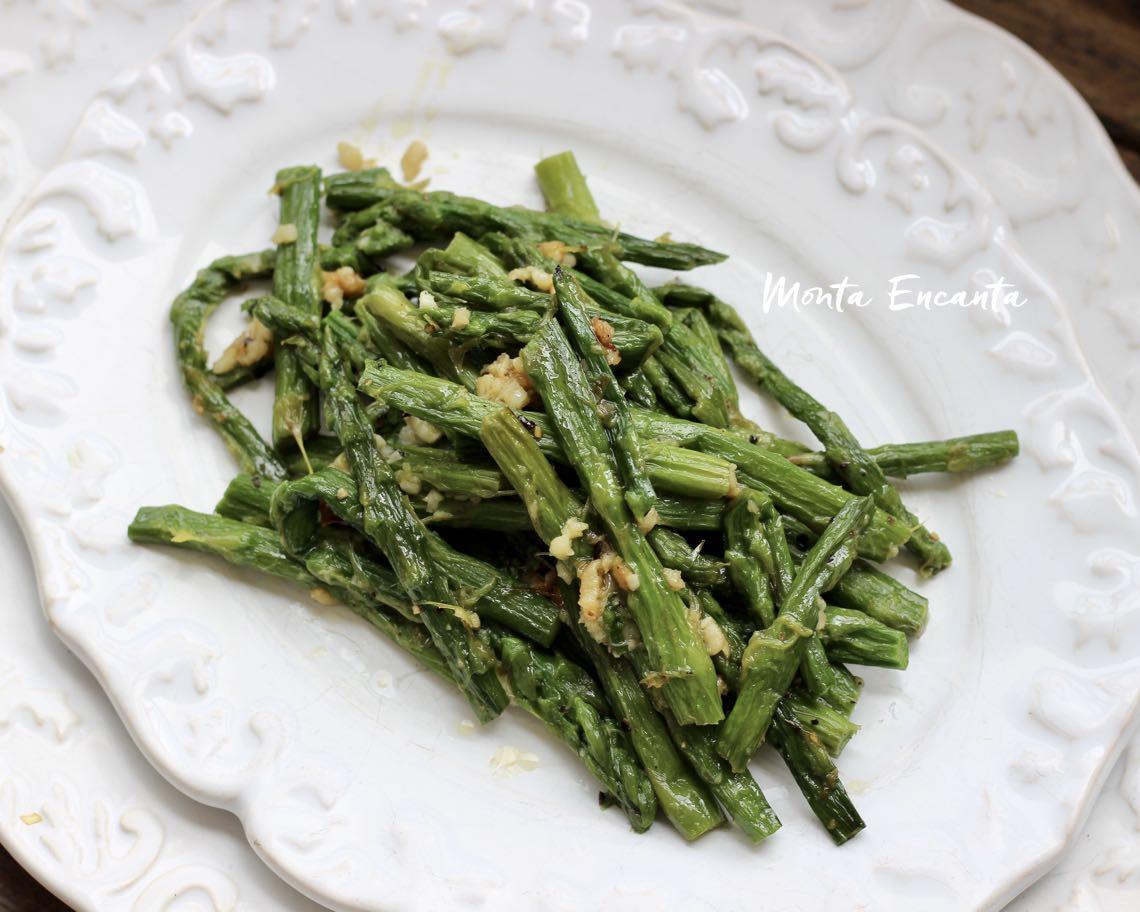 aspargos na manteiga
