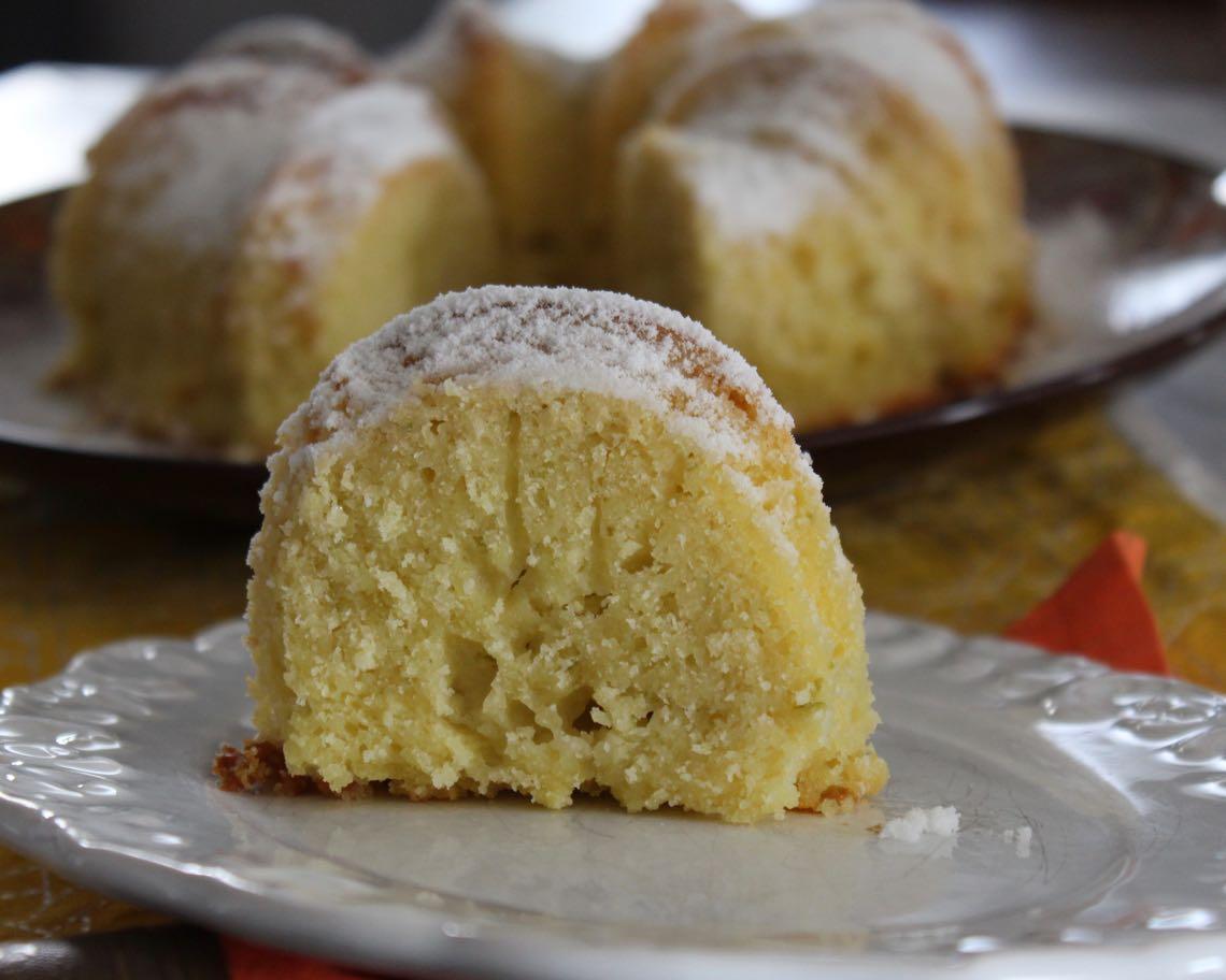 bolo de arroz cru de limão