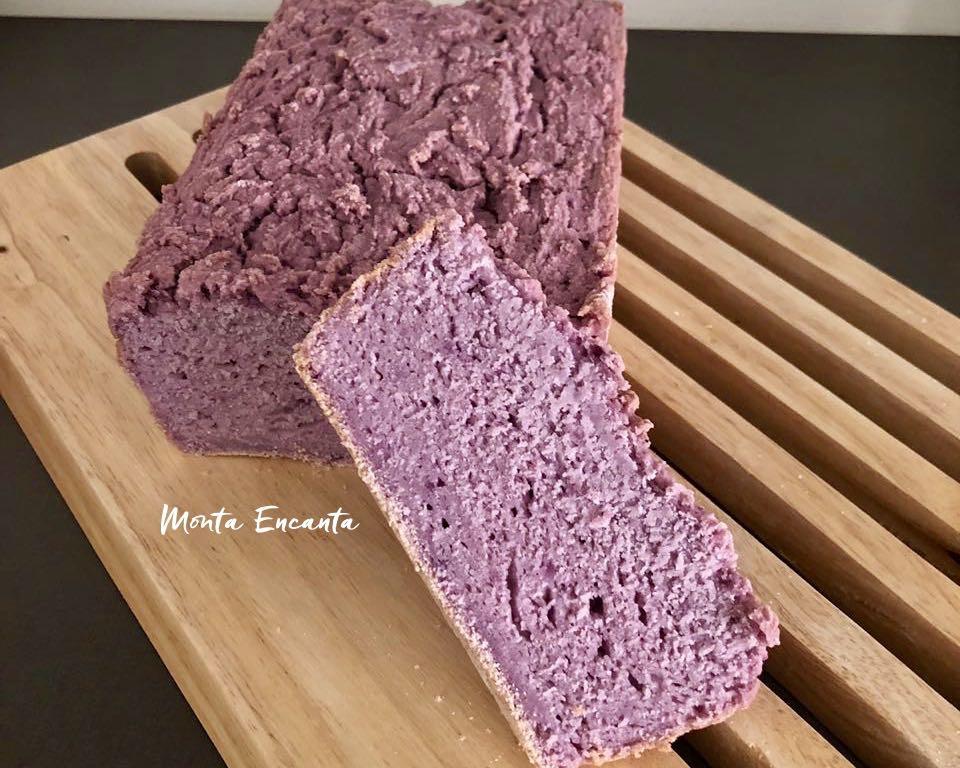 pão de batata roxa sem glúten