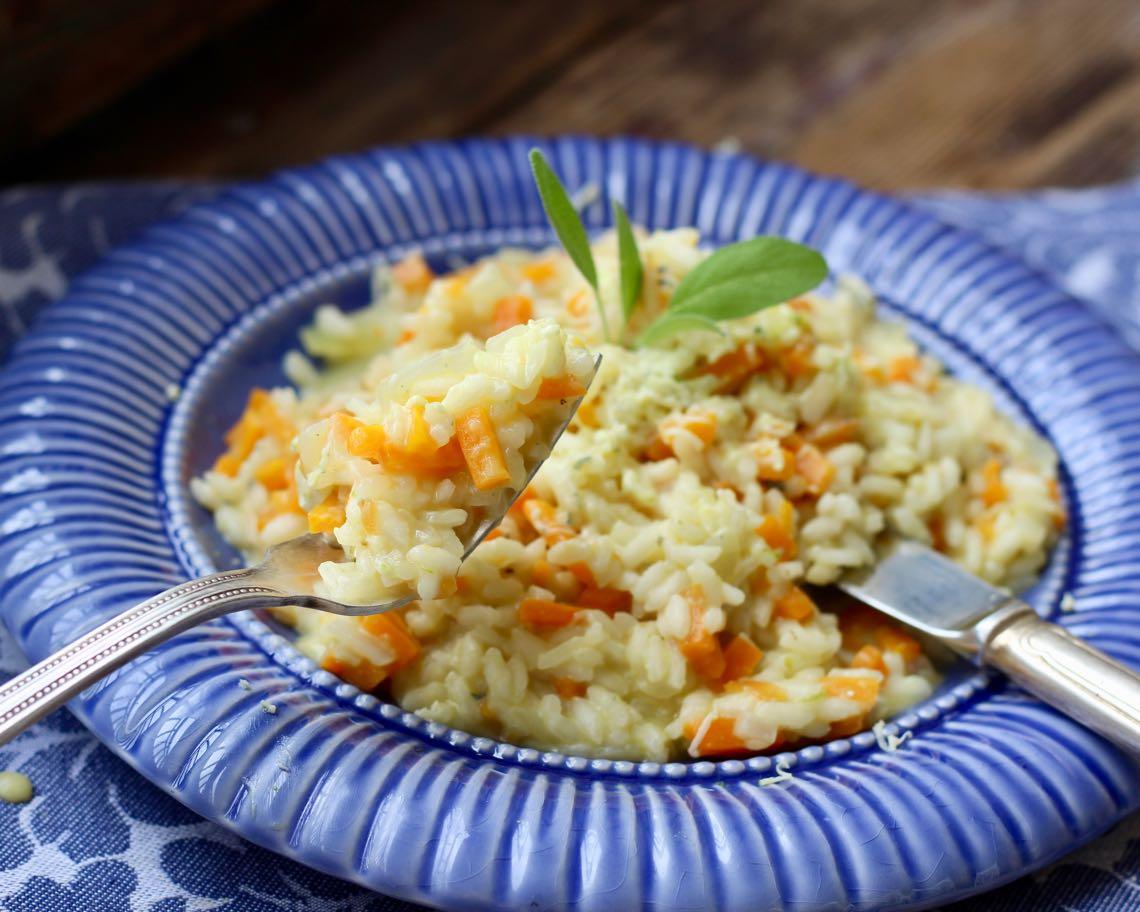 risoto de cenoura