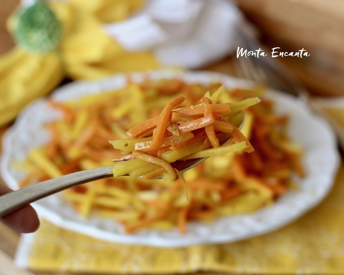 palitos de mandioquinha e cenoura