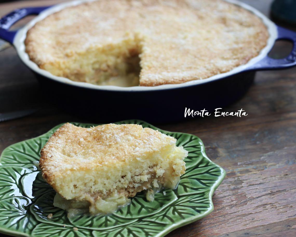 bolo de abacaxi e doce de leite