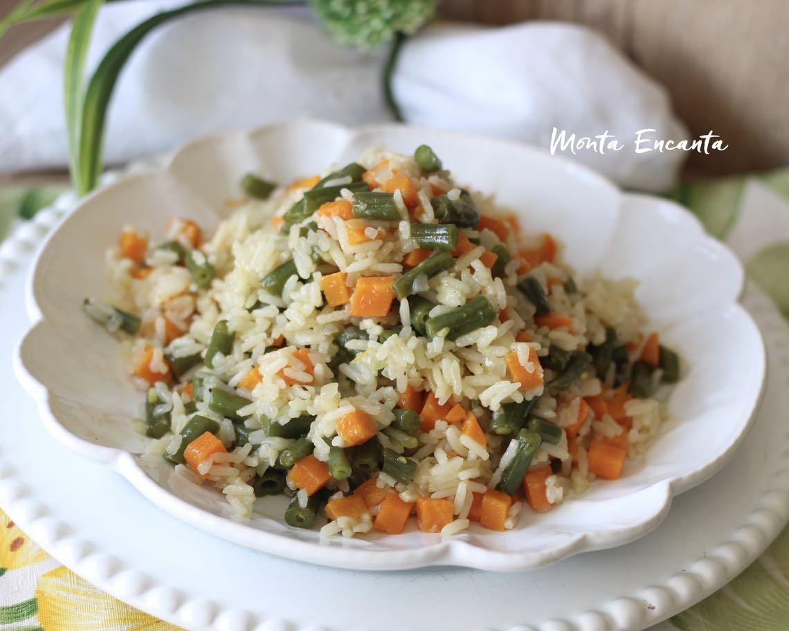 arroz com vagem e cenoura